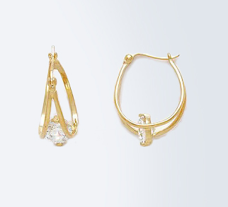 Gold Caged Earrings